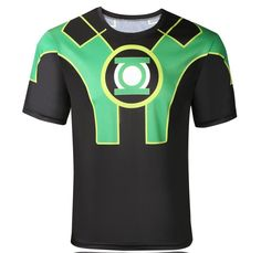 3D Captain Green Lantern Digital Printing Sport T-shirt