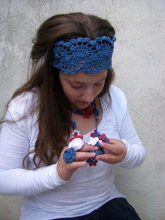 Summer  Spring Summer Hair Fashion Accessories  hand by ARTcrochet, $16.00