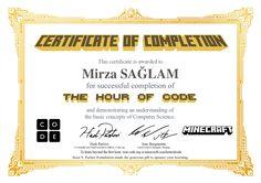 Certificate for Mirza SAĞLAM