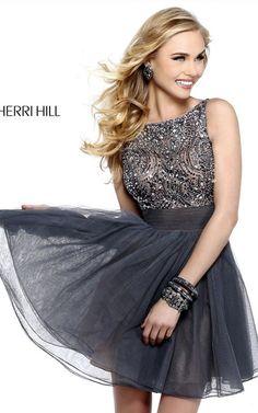 Sherri Hill 11032 Short Prom Dress Metal