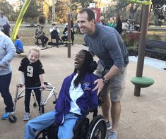 Football season may still be going strong, but that doesn't mean Saints quarterback Drew Brees is taking any days off. When he's not on the field, he's working to give kids a chance to be active. The Drew Brees Foundation just opened an inclusive park so that even children with