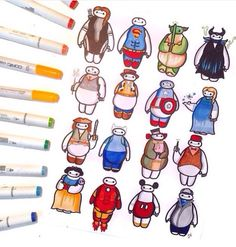 Baymax as some Disney characters ^.^