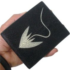 BEAUTIFUL GENUINE STING RAY LETHER WALLET WITH BLACK