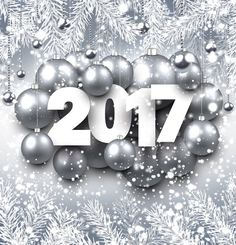 Silver christmas baubles with 2017 new year shining background vector 03 - https://www.welovesolo.com/silver-christmas-baubles-with-2017-new-year-shining-background-vector-03/?utm_source=PN&utm_medium=welovesolo59%40gmail.com&utm_campaign=SNAP%2Bfrom%2BWeLoveSoLo
