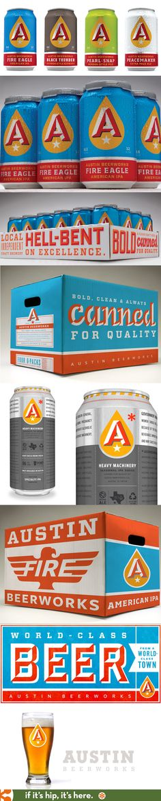 The absolutely fabulous retro packaging and branding for Austin Beerworks by Helms Workshop