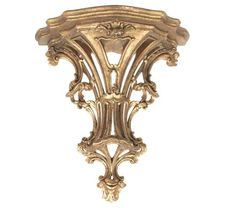 """Large scale vintage Italian giltwood wall bracket in antique gold finish. Wonderful condition H 23 """" x 8""""D x 14""""W. Made in Italy."""