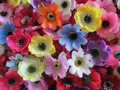 20 Deko Streu Blüten Köpfe Künstliche Kunst Blumen Frühling Sommer Basteln Fest
