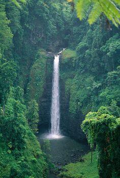 Sopoaga Falls - Samoa! I wanna go hiking here!