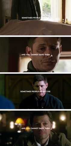 You can't save everyone, my friend… though, you try. #spn #destiel