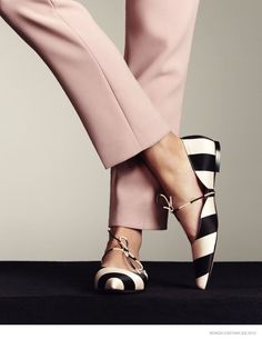 Difficult to find stylish flats. Shoe Gazing: Bionda Castana's Spring 2015 Campaign [London-based shoe brand] - photographed by Dima Hohlov with styling by Natalie Brewster Stilettos, Pumps, High Heels, Zapatos Shoes, Shoes Sandals, Flat Shoes, Flat Sandals, Mode Shoes, Leather Flats
