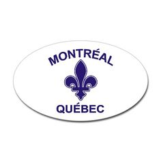 Montreal Quebec Oval Sticker