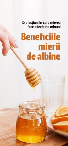Mierea de albine nu este numai gustoasă, ci și un adevărat izvor de sănătate. Află care sunt beneficiile mierii de albine și profită de ele din plin. Beneficiile mierii de albine se datorează conținutului său de vitamine, enzime, aminoacizi și minerale (calciu, fier, clorură de sodiu, magneziu, fosfat și potasiu).  #mieredealbine #miere #beneficii Fitness Facts, Beekeeping, Physical Fitness, Fruit, Breakfast, Health, Food, Insects, Morning Coffee