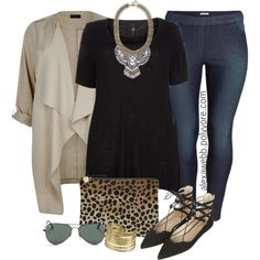 A fashion look from August 2015 featuring H&M leggings, Topshop flats and BaubleBar necklaces. Browse and shop related looks.