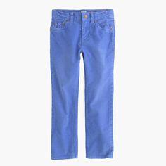 The tried-and-true corduroy trouser—hello, fall. Plus, it's just like Dad's, only smaller. <ul><li>Slim fit.</li><li>Prewashed and preshrunk.</li><li>Cotton corduroy with a hint of stretch.</li><li>Internal adjustable elastic waistband.</li><li>Belt loops.</li><li>Zip fly.</li><li>Sizes 2-7 have snap closure; sizes 8-14 have button closure.</li><li>Traditional 5-pocket styling.</li><li>Machine wash.</li><li>Import.</li></ul>
