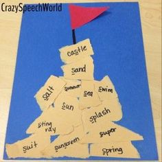Crazy Speech World: Articulation Sand Castle for speech therapy - maybe try with the theme of the books and do a different shape? Articulation Therapy, Articulation Activities, Speech Therapy Activities, Speech Language Pathology, Language Activities, Speech And Language, Therapy Games, Play Therapy, Reading Activities