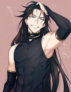 Anime Guy Long Hair, Dark Anime Guys, Cool Anime Guys, Handsome Anime Guys, Hot Anime Boy, Anime Demon Boy, Emo Guys, Chica Anime Manga, Anime Oc