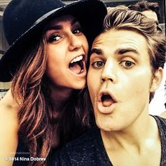 Nina and Paul at today's US Open Tennis
