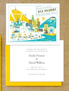 Los Angeles inspired invite....from hello!Lucky