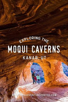 Exploring Moqui Caverns, Kanab, UT Zion Photographer, Adventures in Zion National Park & Southern Utah Oh The Places You'll Go, Places To Travel, Travel Destinations, Wyoming, Nationalparks Usa, Kanab Utah, Voyage Usa, Grand Canyon, Bryce Canyon