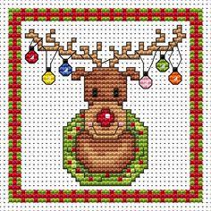 Rudolph Lights Card cross stitch kit