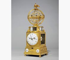 The Prince de Conti's Planetary Clock. This remarkable Louis XVI Ormolu Planetary Clock ('Sphère Mouvante') — the movement by Jean-Michel Mabille and the sphere by Martin Baffert —circa 1770, is a tour de force of horological complexity. It is so charged with technology that it may be viewed as an elite 18th century equivalent of the innovative 21st century products of Silicon Valley or the best watchmakers of today.