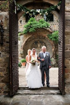 The bride with her father! The big entrance. Photographers: Rossini Photography  | Wedding Planners: Distinctive Italy Weddings | Venue: Vincigliata Castle | #father #bride #weddingabroad