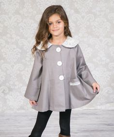 Another great find on #zulily! Gray Shannon Corduroy Coat - Infant, Toddler & Girls #zulilyfinds