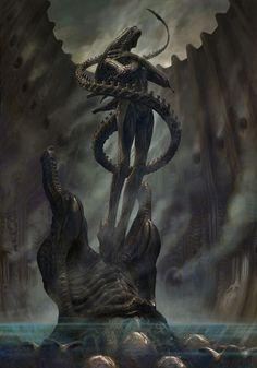 Alien Alien Internecivus raptus Premium Art Print by Sideshow Collectibles Alien Vs Predator, Predator Movie, Predator Alien, Arte Alien, Alien Art, Xenomorph, Alien Creatures, Fantasy Creatures, Science Fiction