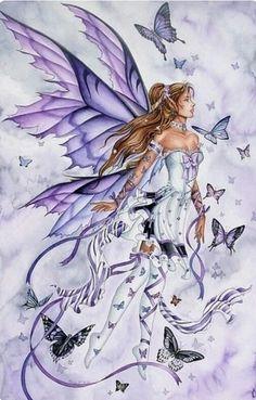 pretty elf fairy angel girl (V) Fairy Dust, Fairy Land, Fairy Tales, Magical Creatures, Fantasy Creatures, Fantasy Kunst, Fantasy Art, Illustration Fantasy, Elfen Fantasy