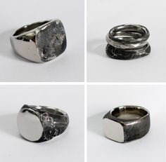 Handcrafted jewellery by Lee Brennan Design (Worldwide) / View on The LANE - Men's style, accessories, mens fashion trends 2020 Men's Jewelry Rings, Mens Silver Rings, Wedding Rings Vintage, Jewelry Photography, Signet Ring, Ring Designs, Fashion Rings, Handcrafted Jewelry, Rings For Men