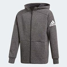 adidas ID Stadium Hoodie Adidas Logo, Nike Jacket, Athletic, Mens Fashion, Hoodies, Sweaters, Jackets, Gray, Adidas Jacket