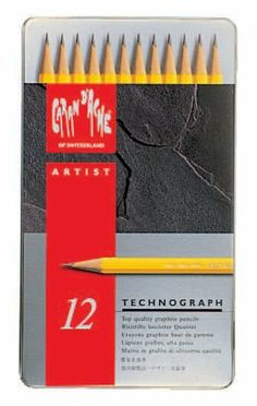 Caran D'ache - Technograph Graphite Drafting Pencil Set 12 by Caran D'ache. $27.95. feature superior quality leads. Packaged in a metal box. great for artistic and technical drawing. 12 different tones, from 6B to 4H. It is available in 12 different tones, from 6B to 4H. These graphite pencils are great for artistic and technical drawing. They feature superior quality leads.