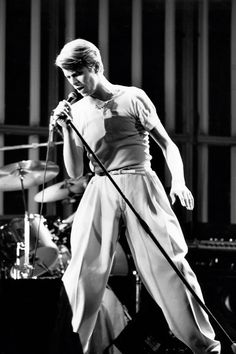 "Bowie... Unfair to say ""as famous for his trousers as his.....""????"