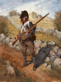"""liberty1776:  """" French Fusilier 1796 by Keith Rocco  """""""