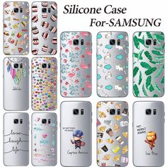 Young Fashion Mobile Case Cover For Samsung Galaxy S7 Edge G9350 Soft Silicone TPU Phone Case Back Cover For Samsung S7 S 7 Edge