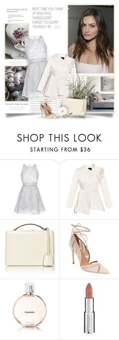"""Beautiful Things"" by thewondersoffashion ❤ liked on Polyvore featuring LUISA BECCARIA, BEVZA, Mark Cross, Topshop, Chanel and Givenchy"