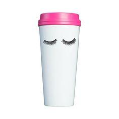 Cutest eyelash travel mug!! Perfect for your morning coffee