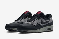 "Nike Air Max 1 Essential ""Knit"" (Black & Cool Grey)"