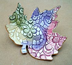 Ceramic Leaf  Soap Dish Spoon Rest trinket Dish