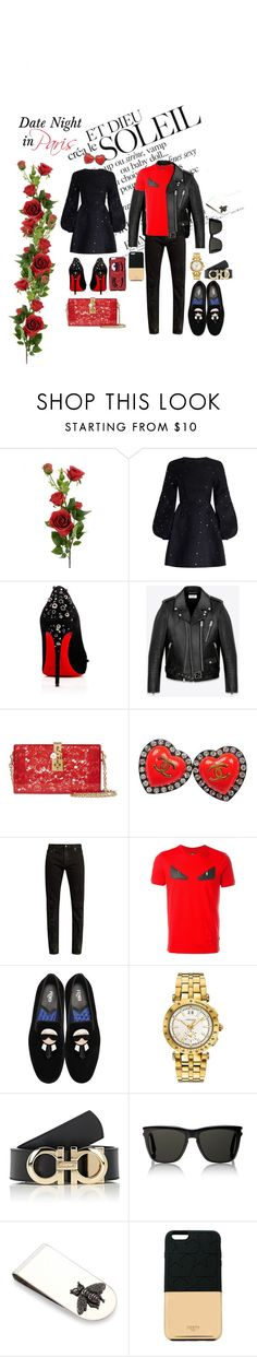 """Untitled #72"" by guccifen ❤ liked on Polyvore featuring Zimmermann, Christian Louboutin, Yves Saint Laurent, Dolce&Gabbana, Chanel, Fendi, Versace, Salvatore Ferragamo, Gucci and Ports 1961"