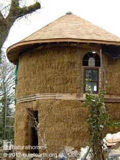 "Quiet Earth, a Straw Bale Retreat in the Beautiful Welsh Hills. Well until ""HE"" comes and blows me house down anyway."