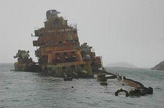 Sunken ship. Wow.: