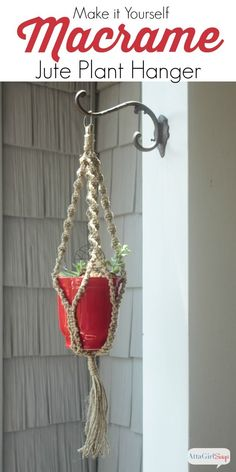 If you love a good throwback craft, then step back in time to the 70s with me and learn how to make a macrame plant hanger using jute twine.