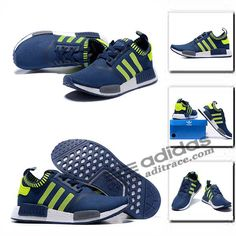 promo code 43f66 e02d5 Adidas NMDR1 Primeknit Classique Chaussure Homme Bleu MarineTriple Vert  aditrace Chaussures Adidas,
