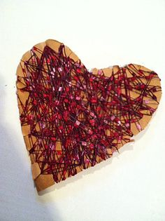 Easiest Kids' Valentine Craft EVER, using materials you already have.
