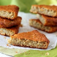 Banana Oat Cashew Quinoa Quick Bread in a bar. All the goodness of a Banana bread made easy to carry around and munch on. vegan
