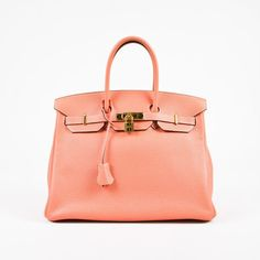 b484f891fe62 Hermes Crevette Coral Pink Togo Grained Leather