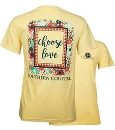 Southern Couture Christian T-Shirt | Choose Love | Comfort Colors