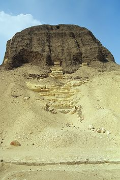 East side of the Pyramid of Nesi (Pharaoh) Senusret II (Sesostris II), Dynasty, el-Lahun, el-Fayyum, Egypt Ancient Mysteries, Ancient Ruins, Ancient Artifacts, Ancient Egypt, Ancient History, Egyptian Temple, Egyptian Art, Archaeological Discoveries, Egypt Travel