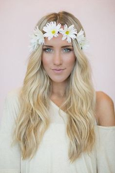 Daisy flower crown headband - Fashion and Love